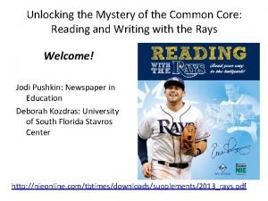 Unlocking the Mystery of the Common Core Reading