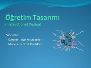 retim Tasarm Instructional Design Modeller retim Tasarm Modelleri