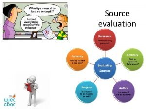 Source evaluation Analyzing written sources Finding useful sources