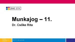 Munkajog 11 Dr Cske Rita Munkajog Pszicholgus MSc
