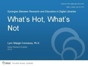 Libraries in the Digital Age LIDA 2012 Zadar