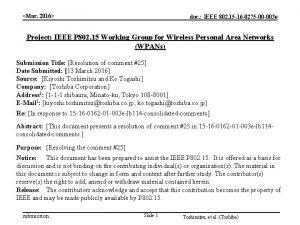 Mar 2016 doc IEEE 802 15 16 0275
