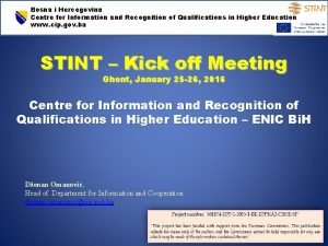 Bosna i Hercegovina Centre for Information and Recognition