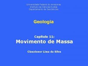 Universidade Federal do Amazonas Instituto de Cincias Exatas