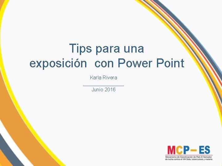 Tips para una exposicin con Power Point Karla