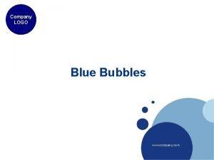 Company LOGO Blue Bubbles www company com Example