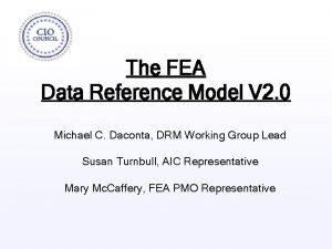 The FEA Data Reference Model V 2 0