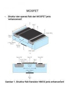 MOSFET Struktur dan operasi fisik dari MOSFET jenis