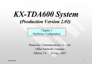 KXTDA 600 System Production Version 2 01 Chapter