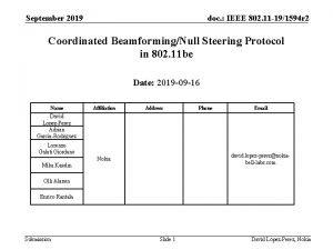 September 2019 doc IEEE 802 11 191594 r