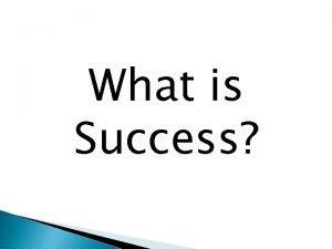 What is Success Self Management Skills Self awareness