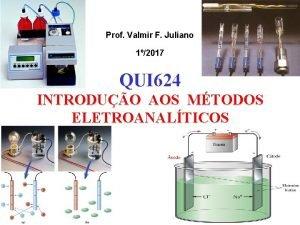 Prof Valmir F Juliano 12017 QUI 624 INTRODUO