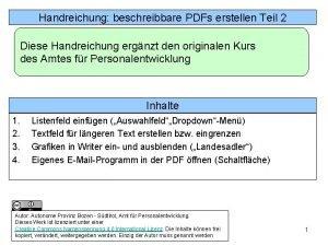 Handreichung 2 In Libre OfficeWriter beschreibbare Felder PDFs