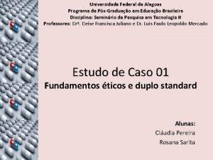Universidade Federal de Alagoas Programa de PsGraduao em