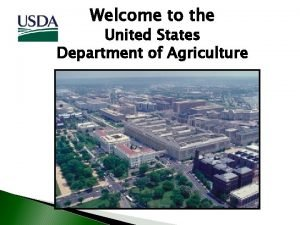 Welcome to the United States Department of Agriculture