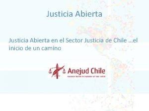 Justicia Abierta en el Sector Justicia de Chile