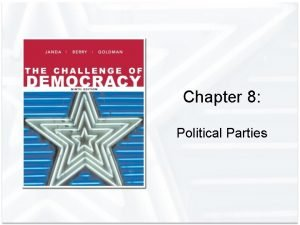 Chapter 8 Political Parties Political Parties and Their