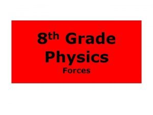 th 8 Grade Physics Forces Force A push