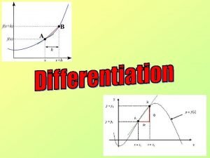 Introduction You will learn what Differentiation is You