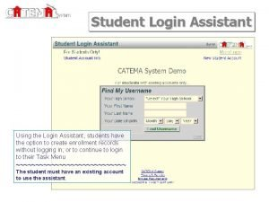 System Student Login Assistant Using the Login Assistant