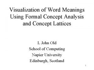 Visualization of Word Meanings Using Formal Concept Analysis