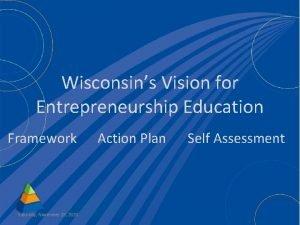Wisconsins Vision for Entrepreneurship Education Framework Saturday November