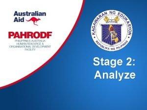 Stage 2 Analyze 2 What is the Analyze