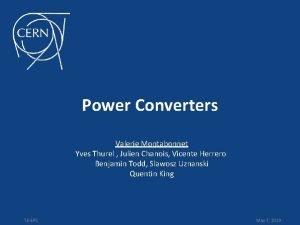 Power Converters Valerie Montabonnet Yves Thurel Julien Chanois