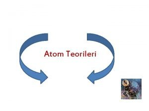 Atom Teorileri Atom Modelleri Atom gzle veya en