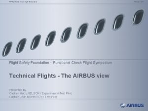 FSF Functional Check Flight Symposium Flight Safety Foundation
