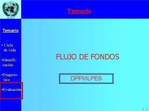 Temario ILPES Temario Ciclo de vida Identificacin Diagnstico