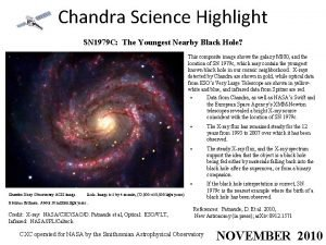 Chandra Science Highlight SN 1979 C The Youngest