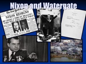 Nixon and Watergate The Election of 1968 n