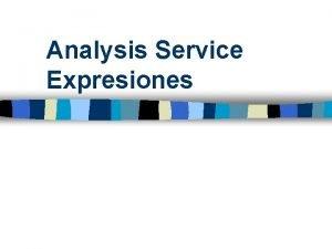 Analysis Service Expresiones 3 Reportes con Expresiones multidimensionales