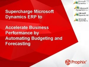 GP Supercharge Microsoft Dynamics ERP to Accelerate Business
