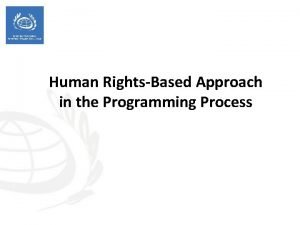 Human RightsBased Approach in the Programming Process Session
