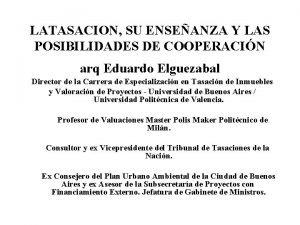 LATASACION SU ENSEANZA Y LAS POSIBILIDADES DE COOPERACIN