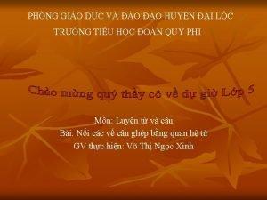 PHNG GIO DC V O O HUYN I