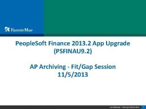 People Soft Finance 2013 2 App Upgrade PSFINAU