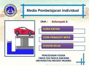 Media Pembelajaran Individual Oleh Kelompok 6 ELMA RAFIKA