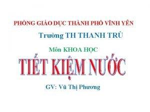 PHNG GIO DC THNH PH VNH YN Trng