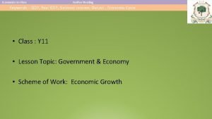 Economics Section Further Reading Keywords GDP Real GDP