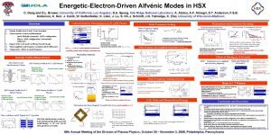 EnergeticElectronDriven Alfvnic Modes in HSX C Deng and