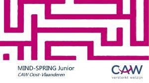 MINDSPRING Junior CAW OostVlaanderen 1 MindSpring Junior 14