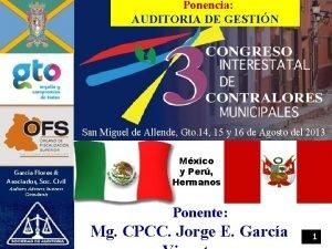 Ponencia AUDITORIA DE GESTIN San Miguel de Allende