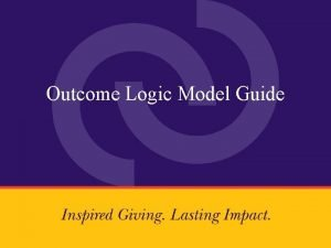 Outcome Logic Model Guide This is the outcome