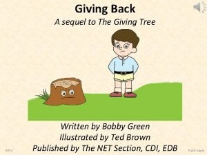 Giving Back A sequel to The Giving Tree