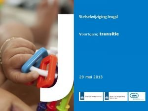 Voortgang transitie 29 mei 2013 Inhoud Transitieplan Themas