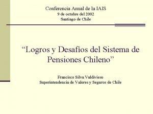 Conferencia Anual de la IAIS 9 de octubre