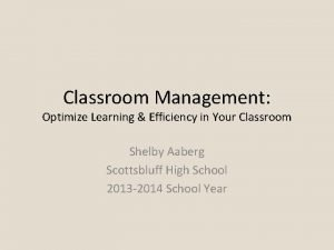 Classroom Management Optimize Learning Efficiency in Your Classroom